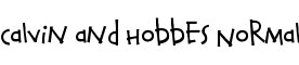 Click for a full preview of Calvin and Hobbes free font