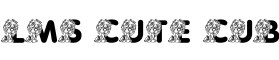 Click for a full preview of Cute Cub free font