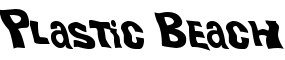 Click for a full preview of Plastic Beach free font