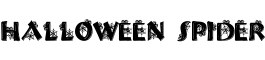 Click for a full preview of Halloween Spider free font